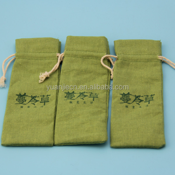 China Supplier Natural Packing Customized Printed Small Cotton Bag