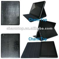 Luxury Black Leather Skin Case For ipad 3