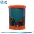 Caliente venta usb alimentado jalea artificial del tanque de peces, acuario de medusas con luz led