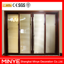 Aluminum Folding Door Glass Folding Door with Blinds for Sale