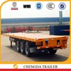 2015 New 3 Axles Container Transport Semi Flatbed Trailers with Fuel Tank