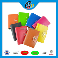 New Arrival Black PU Leather Business Case Wallet Credit Card Holder Purse for 20 Cards 8 Colors
