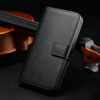 FREE SHIPPING support wallet design real leather case for Iphone 5 5S 30 pcs/lot fast delivery