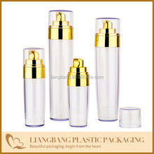 airless bottle ,transparents outside and PP inner