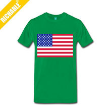 MST1138 Richable Men American Flag T-Shirt With T Shirt No Label
