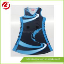 Custom Design Sublimation netball Dress/2015 netball dress/whole sale netball dress
