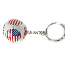 Hot Sale New Design Metal Split Ring Key Ring football fan for American paint
