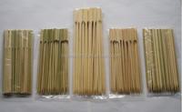 natural bamboo bbq flat skewer/stick