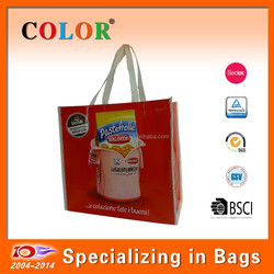 Custom design and laminated Recycle PP non woven shopping bag Factory direct