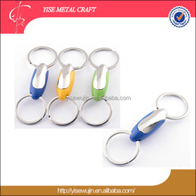 Durable Double rings Plastic Zinc Alloy key holder key ring key chain with Customized logo Wallet Bag Car key chain Product