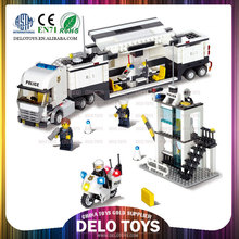 the best toy game plastic building blocks toys for kids police station police truck construction set toys DE0195050