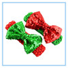 Christmas ornaments Large Sequin Bow Crochet headband infant toddlers baby headband wholesale