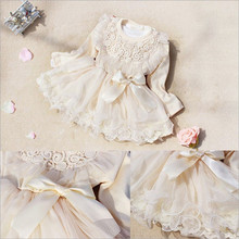 M20072A 2014 AUTUMN NEWEST DESIGN FASHION COTTON BABY GIRLS PRINCESS DRESSES