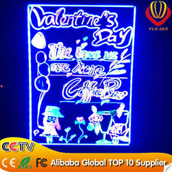 factory direct led writing board/shops advertising screen/shops led writing panel with marker pen CE & ROHS & FCC APPROVED