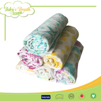 MS016 100% cotton printed muslin bag, muslin cloth, muslin swaddle