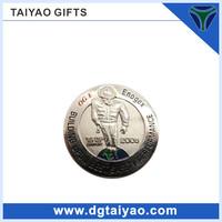 Hot sales Zinc alloy silver plating indian swords coins