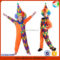 China wholesale new design clown cosplay costume for kids funny halloween costume (Ulik)