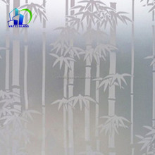 customized design Acid Etched Glass frosted glass bathroom window