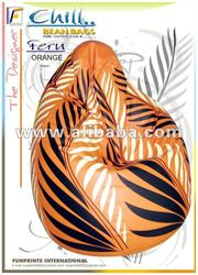 Fern Orange Bean bags