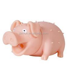 custom make soft plastic Sound Squeeze Screaming Toy pig,soft plastic rubber sound squeeze screaming pig toy