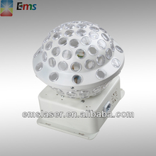 Rotating Strobe Multi changing Color crystal LED stage light for Disco club led party light