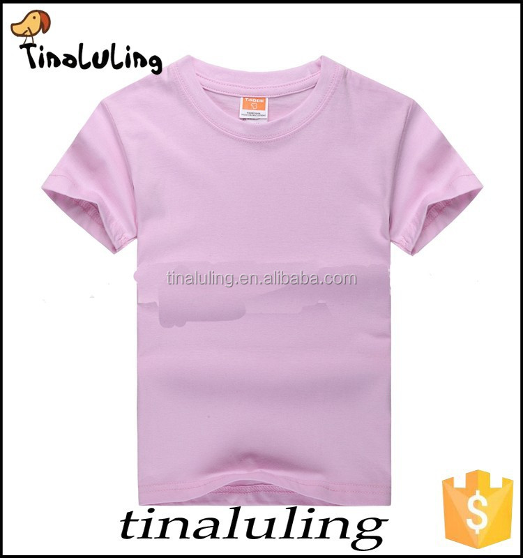 Kids Clothes 2015 Wholesale Plain T Shirts For Printing
