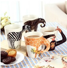New arrival animal design 3D ceramic mug / cartoon ceramic mug / 3d animal face mug