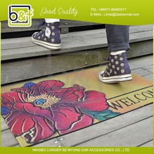 Wholesale fashion design knitted door mat