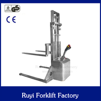 specially used in food warehouse SS electric palelt stacker
