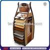 TSD-M339 16 tiers metal stand for wooden floor samples/double side floorboards floor display/display stands for wooden floor