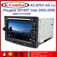 """K-Comfort Factory supply 7"""" in car dvd player peugeot 407/408 with GPS + SWC + Radio + RDS BT+ SD + USB CD/DVD IPOD Aux-in"""
