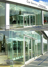 trackless shower doors / sliding glass wall system / glass walling