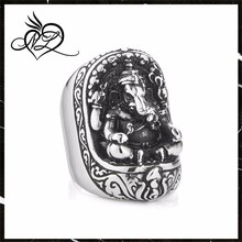 New Arrival Super Detail Man's 2015 Fashion Elephant Rings Retro Gothic Stainless Steel Man's Ring