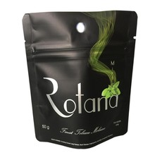 Matted finished foil lined standing zipper bags for 50g tobacco