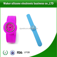 Hot promotional items OEM factory cheap price silicone slap watch for kids