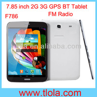 7.85 inch Touch Screen Tablet PC Support 3G GPS Bluetooth FM Radio Dual Camera F786
