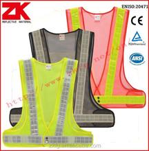 Hi-vis mesh reflective safety vest in reflective safety clothing