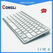 2015 shenzhen bluetooth keyboard for Apple MacBook Ipad Iphone with 2 AAA Battery