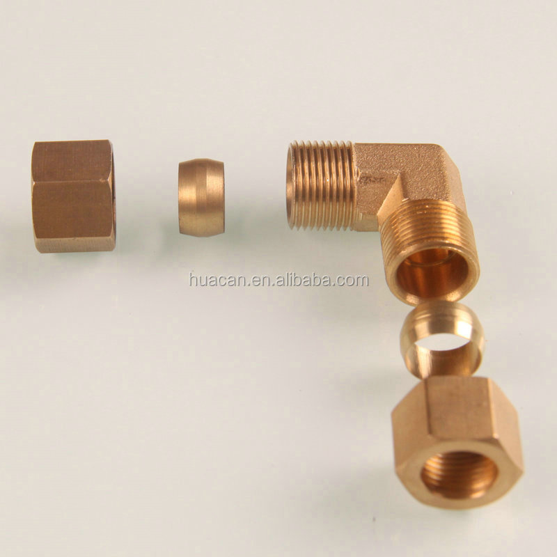 Oem forged brass compression fittings for copper pipe
