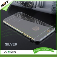 Premium quality 5.5 inch for iphone 6 PLUS cell phone case with mirror clear gold mirror phone case for iphone 6