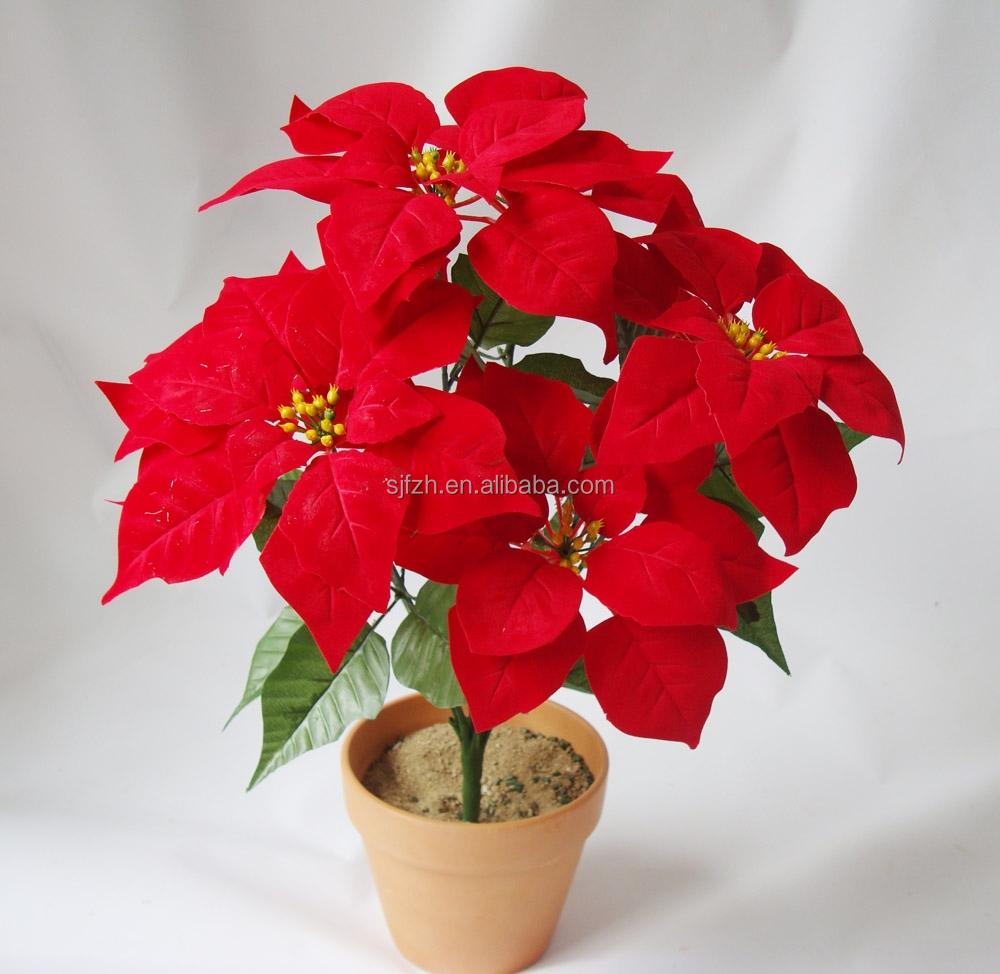 d coration int rieure sec fleur de no l bouquet de fleurs pour no l h tel plastique no l fleur. Black Bedroom Furniture Sets. Home Design Ideas