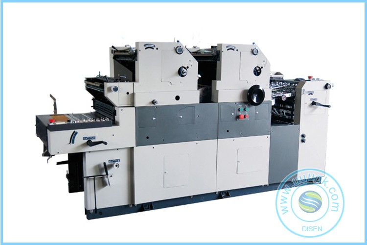Two color coding hamada offset printing machine