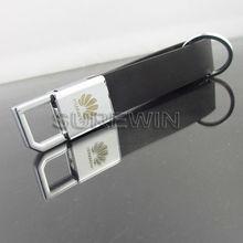 PU car key chain with laser logo