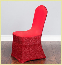 wholesale spangle sequin spandex chair cover for wedding decoration