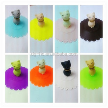 2015 High Quality Cartoon Shaped Silicone Cup Cover/Silicone Cup Lid / Silicone Tea Cup Cover