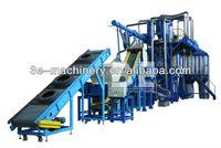High efficient Rubber shredder machine/Tire recycling equipment/ Tire/tyre recycling machine with CE certification
