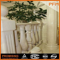 Roman round new style stone wedding stages crystal pillars