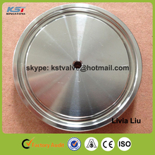 """SS304 3A sanitary stainless steel pipe end cap 2"""" with hole M5 centered"""