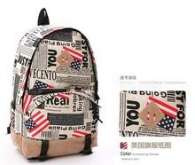 2015 new American high school students schoolbag British flag shoulder bag men and women European style backpack (BXJ1003)