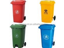 Taizhou 240L Outdoor Stand Garbage Can With Lid,240lt Plastic Trash Bins,240liters Plastic Trash Can